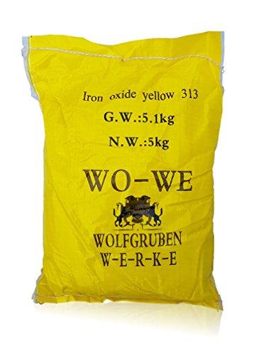 Eisenoxid Pulver Pigmentpulver für Betonfarbe Lehm Keramik W120 Gelb - 5KG