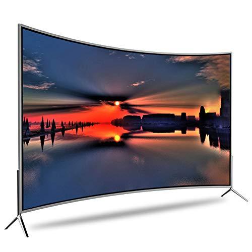 55 Zoll LED Fernseher, Fernseher Mit Gebogenem Bildschirm, 4K, HDR, Smart Network TV, Auflösung Bis Zu 3840 X 2160, Metallrahmen, V-förmige Basis