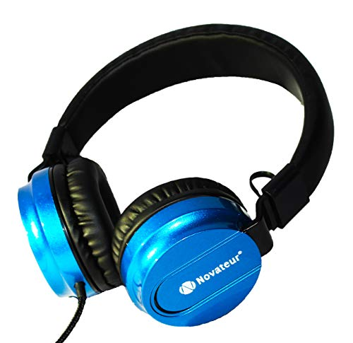 Novateur RXB Xtreme Bass Headphones with Mic and Extra and Deep Bass (Wired) (Metallic Blue)
