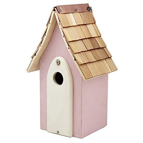 Gabbia per uccelli Opzione regalo perfetta Mangiatoia for uccelli for bambini Arte e artigianato retrò Country Cottages Casetta for uccelli Casetta for uccelli in legno all'aperto for piccola cabina f