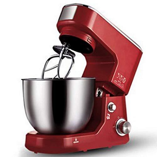 GAOLIGUO Amasadora 4L, 1000W Robot Cocina Multifuncional 6 Velocidades Mezclador de Alimentos Incluye 3 Accesorios de batido y Acero Inoxidable Bol,Red