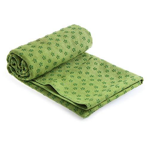 Jinxuny Non Slip Yoga Handdoek Microvezel Yoga Mat Cover Super Absorbent Yoga Mat Handdoek voor Hot Yoga Pilates en Fitness met Anti Slip Bodem Groen