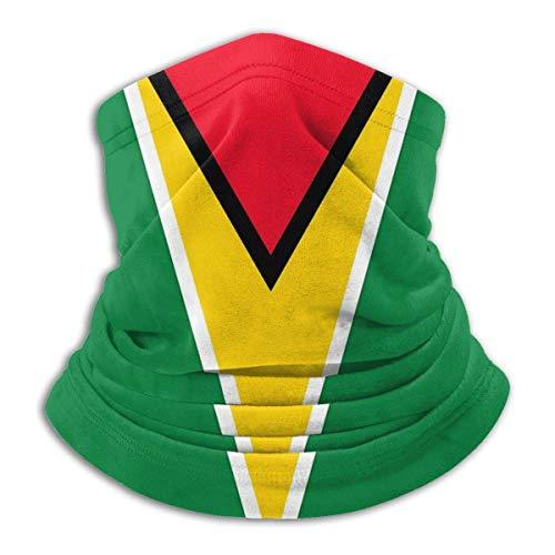DFGHG Bandera de Guyana, calentador de cuello de microfibra Unisex, pañuelo facial, máscara para invierno, máscara de clima frío, pasamontañas