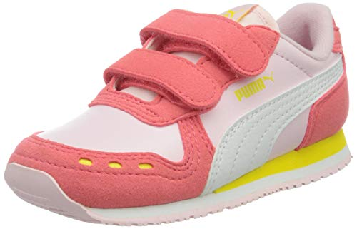 Puma Unisex Baby Cabana Racer SL V INF Sneaker, Pink Lady White-Sun Kissed Coral, 22 EU
