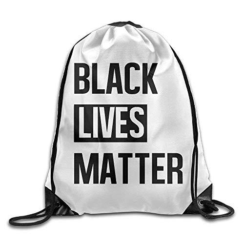 Lawenp Black Lives Matter Print Drawstring Backpack Rucksack Shoulder Bags Gym Bag Sport Bag