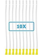 Dr. Wunder® 10 stuks flexibele krimphulpen   zacht materiaal, ronde punt & afgeronde randen   lengte 40 cm, diameter 6,7 mm   universele maat voor elke gangbare irrigator- en krimpset