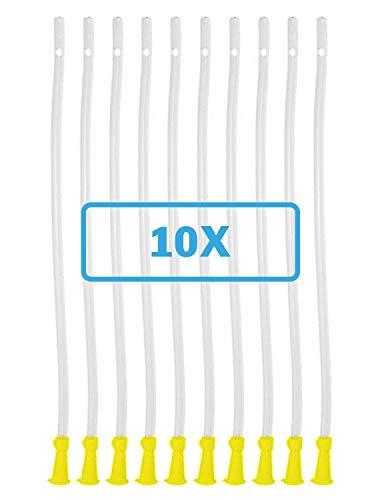 Dr. Wunder® 10 Stück Flexible Einlaufhilfen |weiches Material, runde Spitze & abgerundete Kanten |Länge 40cm, ∅ 6.7mm | universelle Größe für jedes gängige Irrigator- und Einlauf-Set