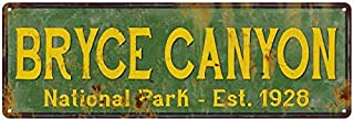Chico Creek Signs Bryce Canyon National Park Rustic Metal 6x18 Sign Cabin Wall Decor 106180057033