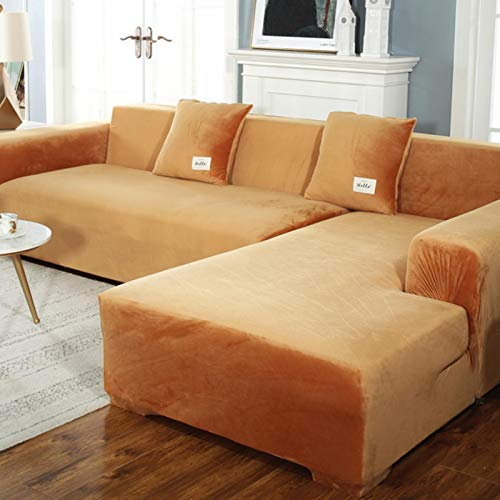 GoGOO Sofa Covers Chaise Longue for Living Room Corner Armchair Elastic Couch Cover 2 and 3 Seater Furniture Slipcover