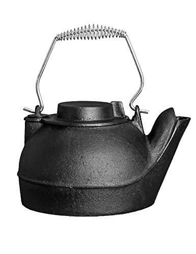 Fire Beauty Humidifying Iron Kettle,Stove Humidifier,Wood Stove Kettle,Cast Iron,Chrome handle,Matte Black