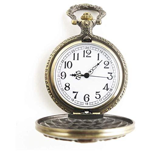 SCDZS Reloj de Bolsillo mecánico Retro de los Hombres de Bronce de Steampunk Diseño de la Vendimia con los Padres de la Cadena Regalo del día