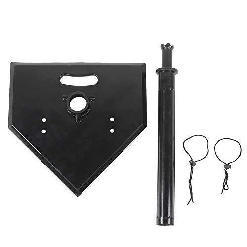 AMONIDA Tubo Desmontable y Flexible Accesorios de béisbol 54cm-100cm / 1.8-3.3ft Soporte de bateo, Camiseta de béisbol, béisbol Amateur Negro para Profesionales