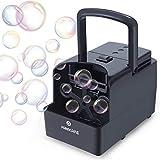 PANACARE Máquina de pompas de jabón portátil automática, máquina profesional de burbujas 1500 + burbujas por minuto, juguete eléctrico para niños, bodas, cumpleaños, fiestas de Navidad