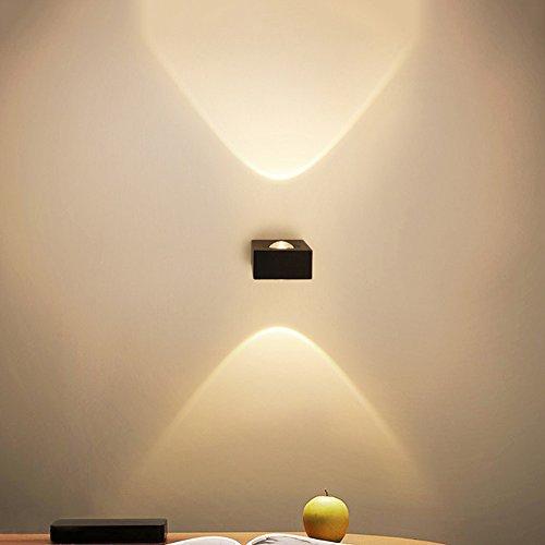 Slaapkamer Armaturen High-end Creative Two-way Mini 6W LED Warm-light Aluminium Lamp van de muur Slaapkamer Woonkamer Wall Display Spotlight DIY Combinatie Muur Light 111V ~ 240V W Wandlamp Verlichtin