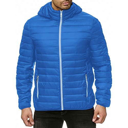 waotier Abrigos Chaquetas de Invierno con Cremallera para Hombre Acolchada Abrigo de algodón Chaqueta de Abrigo Abrigada Abrigo Ligero