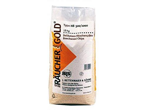 RÄUCHERGOLD® 15kg Buchenholz Räuchermehl HB 500-1000