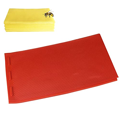 Beeswax Mold Nest Box Nest Foundation Making Mold Flexible Beeswax Foundation Press Embosser achine Bee Keeping Supplies Beeswax Sheets Honeycomb Sheets Making Mold (Red)