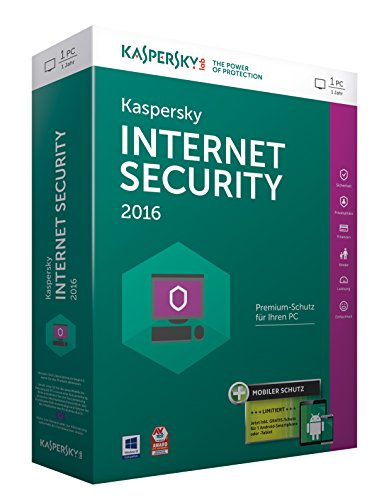 Kaspersky Internet Security 2016 - 1 PC / 1 Jahr + Android Security