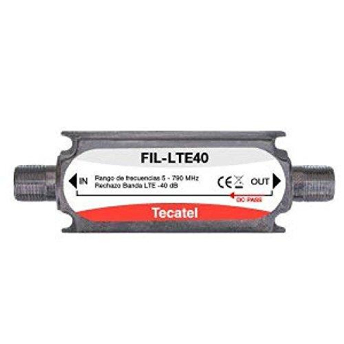 Filtro LTE para interior, conector F con corte en el canal 60 de Tecatel