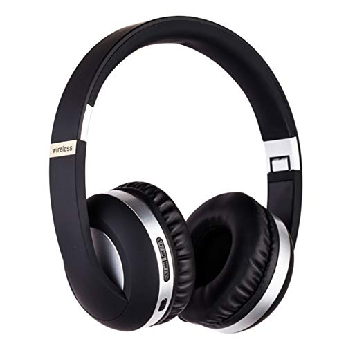 Wsaman Auriculares Inalámbricos Bluetooth,Auriculares para Trabajo y Deportes Viaje, con Mic Reducción de Ruido para Deportes, Oficina en Casa, Trabajo,Plata