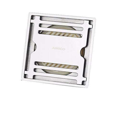 ZTHC volledig koper, deodorant, bodemafvoer, dik, geschikt voor toiletten, waterkamer, vierkant, 10 × 10 cm