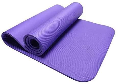 GDFEH Esterilla Yoga Alfombra de yoga NBR Fitness Estera de espuma Estera de ejercicios para el hogar Fitness y entrenamiento, Estera práctica del suelo de la alfombra de la yoga Pacto ligero compacto