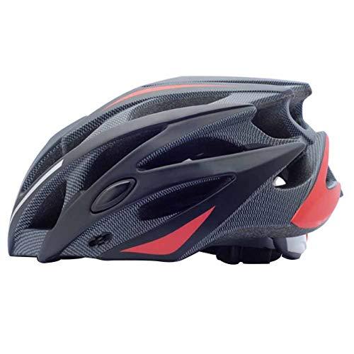 KEI Casco Bicicleta Adulto MTB con Agujeros de ventilación 25, Lente magnética Desmontable, para Hombres y Mujeres Bicicletas de montaña y Bicicletas de Carretera,Red Gray,M