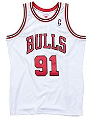 KKSY Jersey Chicago Bulls 91# Dennis Rodman Jerseys Ademende Basketball Swingman Tanktop