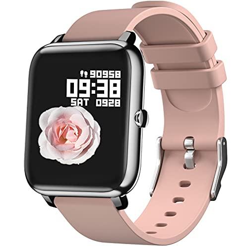 IDEALROYAL Smartwatch für Männer Frauen, Fitness Tracker mit Herzfrequenzmesser Schlafmonitor, Smartwatch Bluetooth-Kamera Musiksteuerung mit wasserdichtem 1,4