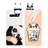 Yoedge Funda para Samsung Galaxy A5 2017, Silicona Cárcasa 3D Animal Muñecas Toy con Dibujos Antigolpes de Diseño Suave TPU Ultrafina Case Cover Fundas Movil para Samsung A5 2017 5,2, Panda 1