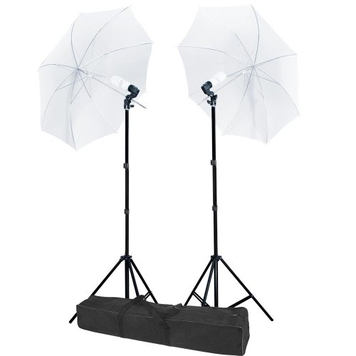 "33"" Portable Umbrella Studio Lighting AC Swivel Umbrella Holders 2 Constant Kit All Level Photographers US Delivery"
