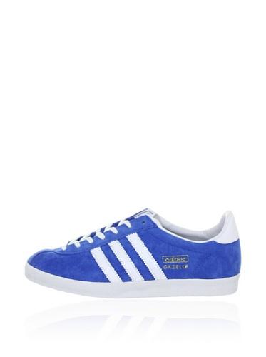 adidas Herren Gazelle OG Sneakers, Blau (Air Force Blue/White/Metallic Gold), 44 2/3
