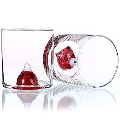 Amazon - 65% Off on Whiskey Glasses -set of 2 Scotch Glass 14oz Old Fashioned Whiskey Animal Glasses