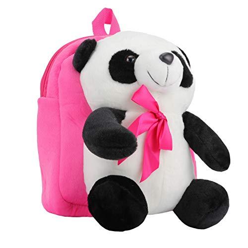 Mochila infantil de panda Valicclud de pelúcia para estudantes, bolsa de ombro para viagem, acampamento (rosa)