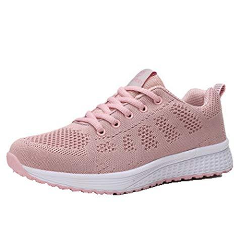 Zapatillas de Deporte para Mujer Color Mezclado con Cordones Zapatillas de Deporte Bajas para Vestir Moda Primavera Otoño Zapatos Deportivos Casuales Antideslizantes