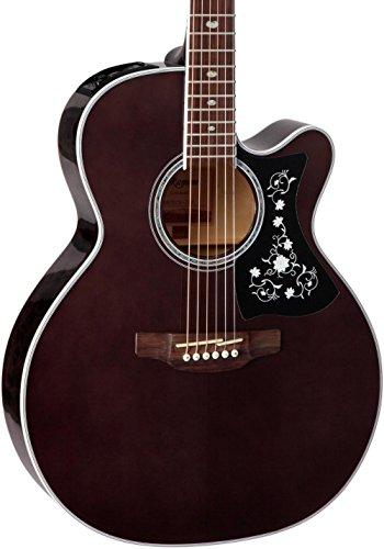Takamine GN75CE TBK NEX Cutaway Guitarra acústica-eléctrica, negro transparente