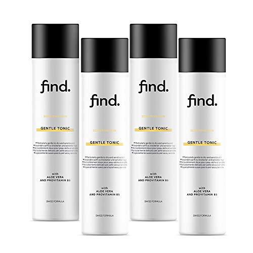 Amazon-Marke: find. Sanftes Gesichtswasser für sensible Haut - Alkoholfre (4x200ml)