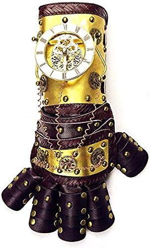 KERVINFENDRIYUN YY4 War Gauntlet Gold Arm Handschuh mit HGoldloge Getriebe Cosplay Kostüm Steampunk Requisiten Zubeh mit Geschenk-Box (Farbe   Gold)