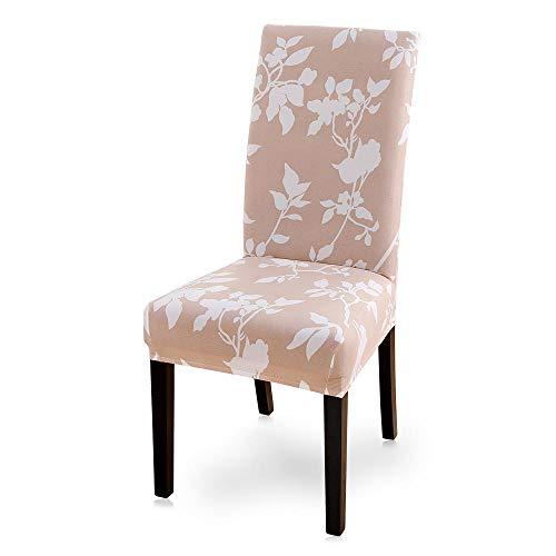 flqwe Afneembare wasbare stoelbekleding, 2/4/6 stuks modern bedrukte elastische stoelbekleding. Afneembaar en wasbaar, stretch stoelhoezen voor eetkamer.