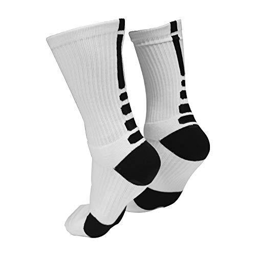 Hockey Compression socks - Crew Length moisture wicking performance hockey skate socks Black or...