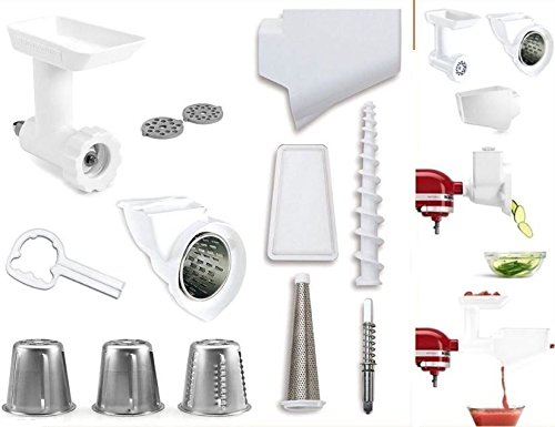 KitchenAid Stand Mixer Attachment Pack 1 with Food Grinder, Fruit & Vegetable Strainer, and Rotor Slicer & Shredder