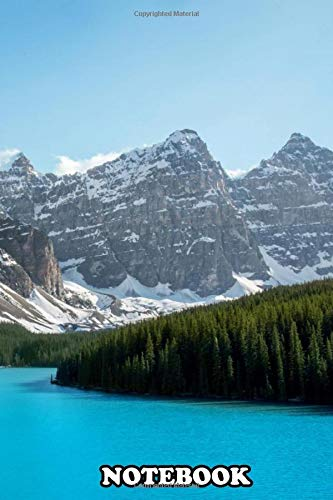"""Notebook: Beautiful Photo Of Moraine Lake In Alberta Canada , Journal for Writing, College Ruled Size 6"""" x 9"""", 110 Pages"""