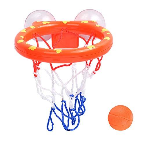 U-A Juguete de baño Juego de Bolas y aro de Baloncesto Divertido para niños y niñas Juego de Regalo de Juguetes de baño para niños y niños pequeños 3 Bolas Incluidas