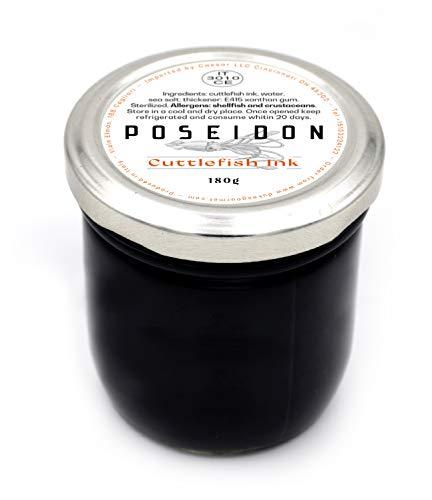 Poseidon tinta de calamar, tinte calamar, sepia, jarra de 'tinta sepia' de 180 gm