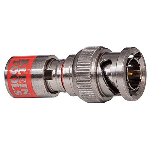 Klein Tools VDV813-616 Conector de compresión universal BNC RG59, negro
