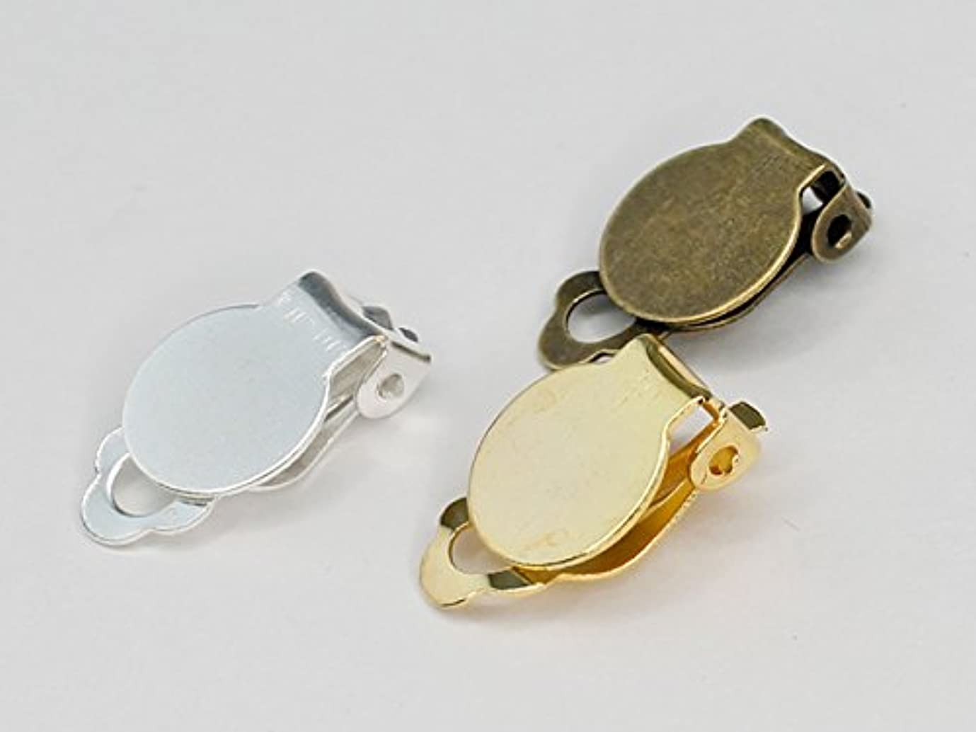 入植者裏切り者正午[デコ素材]小さいクリップ(シューズクリップにも) 3カラー 1個 デコ土台/デコ/スワロフスキー ゴールド