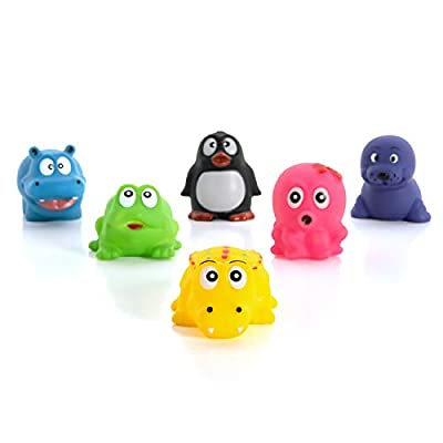 XY-WQ Floating Baby Bath Toys Set Baby Stuffs Fun Bath Time - Perfect Children Gift for Kids Infant Toddlers (Aquatic, Pack of 6)