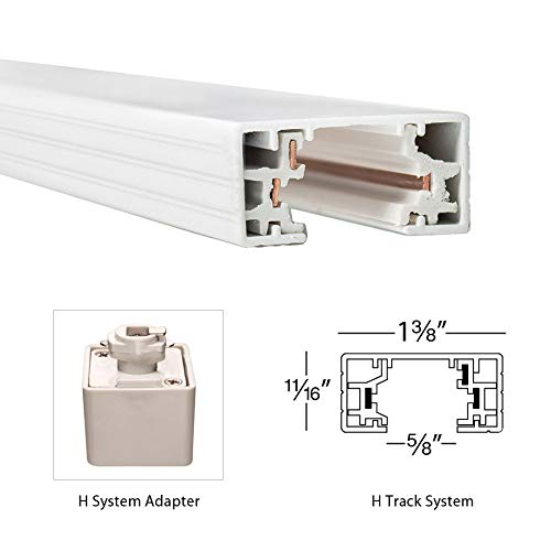 WAC Lighting HFC-WT H Series Floating Canopy Connector, White