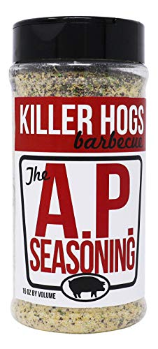 Killer Hogs AP Seasoning   Championship BBQ and Grill All Purpose Seasoning for Beef, Steak, Burgers, Pork, and Chicken   Salt, Pepper, Garlic (SPG)   16 oz