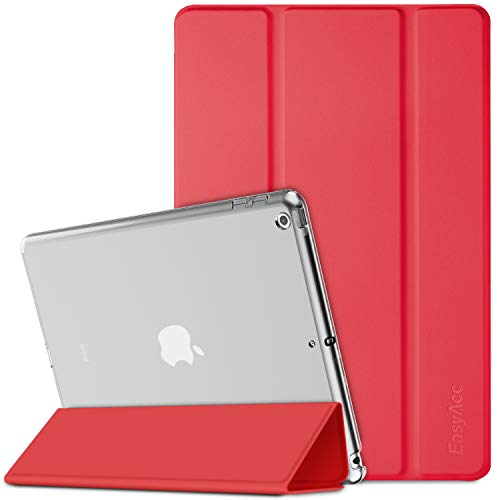 EasyAcc Custodia Cover Compatibile con iPad 8 Generazione/iPad 10.2 2020 2019 / iPad 7 Generazione, Cover Posteriore Opaca Ultra Sottile Traslucida con Funzione Auto Wake Up/Sleep, Rosso